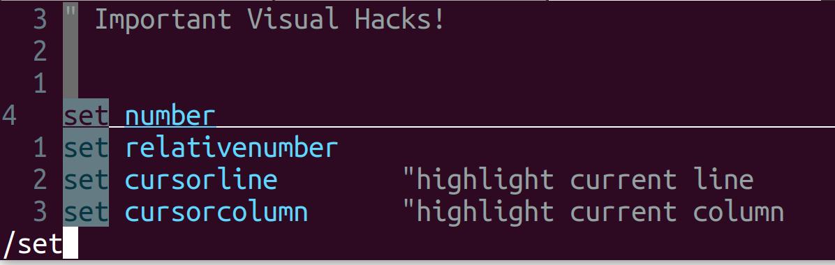 Important Visuals Hacks in VIM