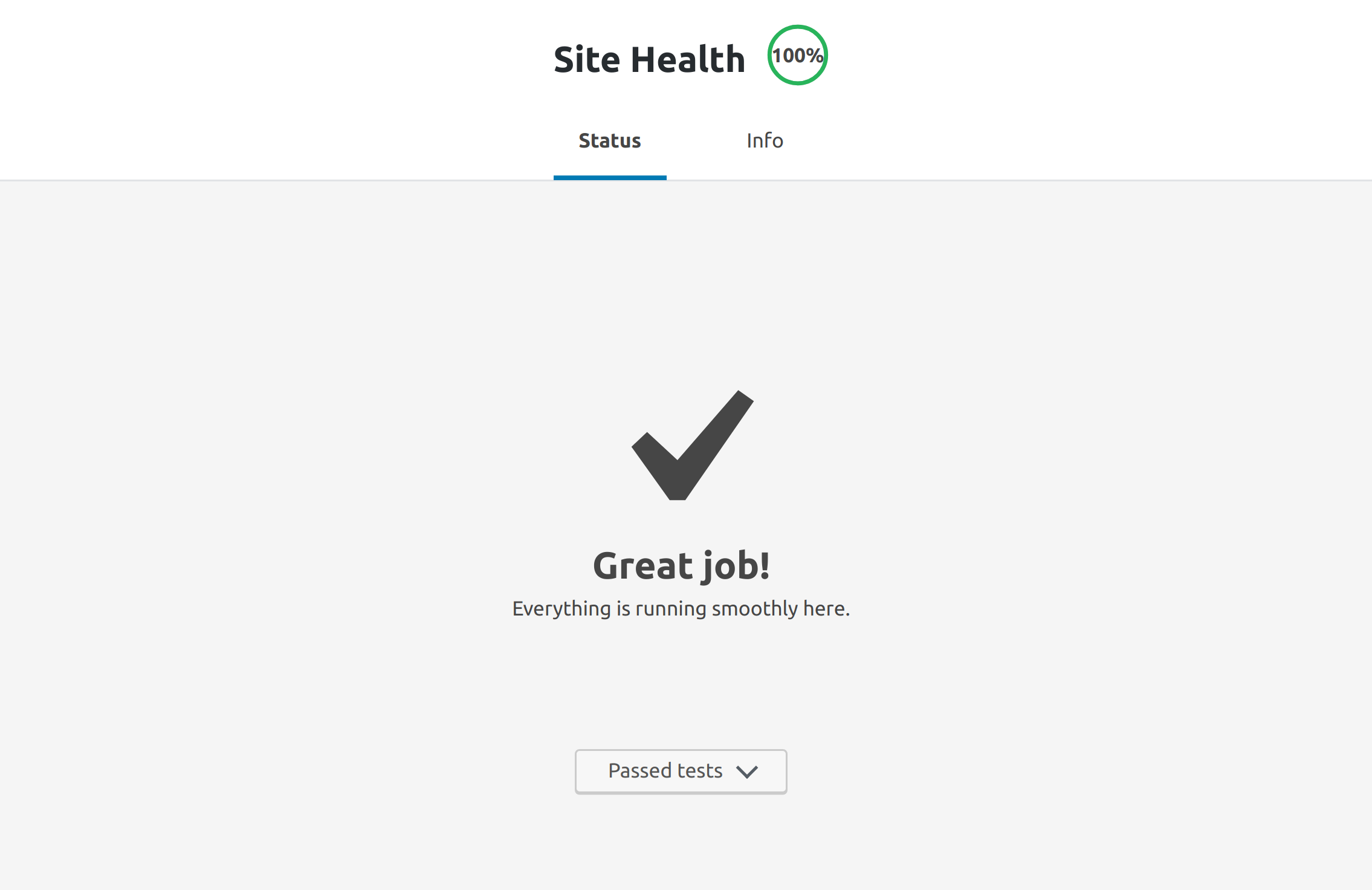 Completing WordPress Health Check inside Docker